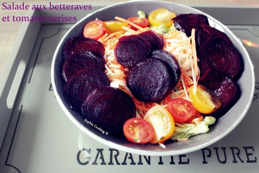 42. Salade de betterave aux tomates cerises